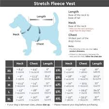 Gooby Size Chart Stretch Fleece Pull Over Cold Weather Dog Vest Grass Green X Large Please Measure Your Dogs Chest And Length Size Chart Under The Description By