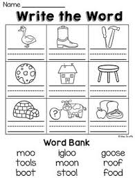 Kids choose the correct consonant blend from the boxes and complete the word. Oo Worksheets Activities Over 90 Fun No Prep Printables To Practice The Tricky Oo Sounds This Vow Phonics Worksheets Phonics Lessons Vowel Teams Worksheets