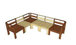 outdoor wood sofa plans