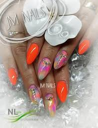 Neon Coral Barevné Gely Neon Nl Nails Profesional