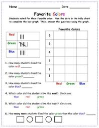 Favorite Color Chart Favorite Colors Bar Graph And Tally Chart