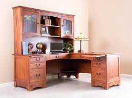 mission style solid oak office computer. Appealing Solid Wood L Shaped Desk S7255657 This Mission Style Is Perfect For The Corner Of Your Home Office Or Creating Own Workspace Oak Computer S
