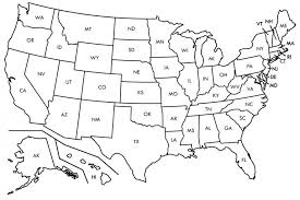 Free Printable Us Map Blank Blank Us Map States Blank Black And