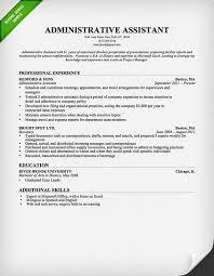 Resume Sample Administrative Assistant Musiccityspiritsandcocktail Com