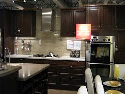 Dark Cabinet Backsplash Idea The Interior Design Chrome Kitchen