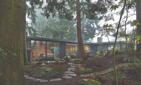 northwest modern home architecture. Exellent Architecture The Lshaped Singlestory House With A Shed Roof And Concreteblock Throughout Northwest Modern Home Architecture O