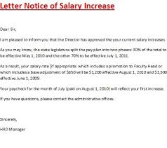 pay raise letter samples salary increase letter template ready portrait notice of sample pay