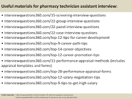 top 10 pharmacy technician assistant interview questions and previous