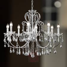 arizona crystal chandelier with eight bulbs