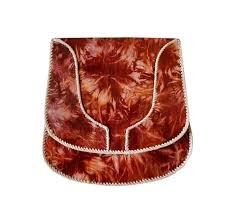 red tie dye real leather shoulder bag
