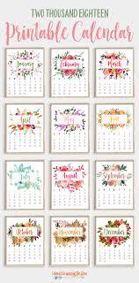 2018 Printable Calendar | Pinterest | Printable Calendars ...