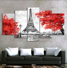 modern art for office. 5PCS Framed Eiffel Tower Canvas Prints For Wall Art Office And Home Decor Modern