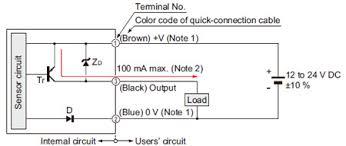 digital fiber sensor fx 300 i o circuit and wiring diagrams i o circuit diagram