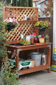 Potting Bench 16 Free Potting Bench Plans To Organized And Make Gardening Work