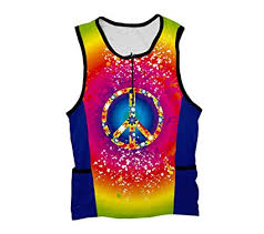 Scudopro Tie Dye Hippy Triathlon Top For Women