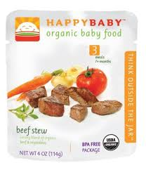 Happybaby <b>Organic Baby Food Stage</b> 3 Beef Stew 4 ounce Pouch ...