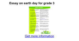 essay on earth day for grade google docs