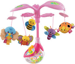 vtech pink sing and soothe musical mobile bug babytoddler toy