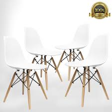modern chair plastic. Mid Century Modern Style Chairs By UrbanMod (Set Of 4).\u0027Easy Assemble Chair Plastic ,