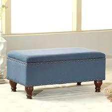 blue velvet bench. Blue Storage Benches Medium Size Of Ottoman Tufted Bench Light Velvet For Navy