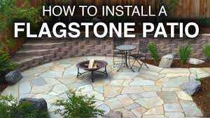 how to install a flagstone patio step