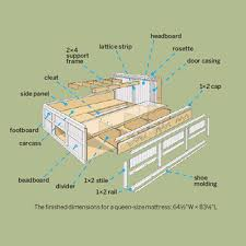 king storage bed plans. Wooden Platform Bed With Storage Plans DIY Blueprints Free How To Video And 16 Sneaky Ideas First Find King