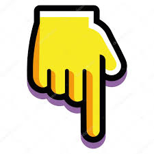 Image result for clipart emoji pointing down
