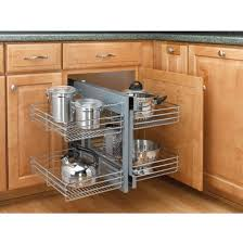 Blind Corner Cabinet Pull Out Shelves Rev A Shelf Kitchen Blind Corner Cabinet Optimizer Maximizes With 63