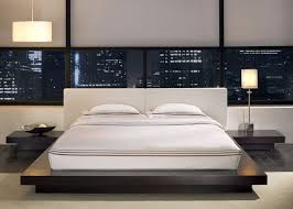 Amazing of Flat Platform Bed with Worth White Leather Queen Size ...