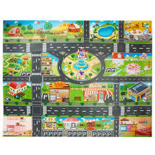 toy plastic rug kids carpet playmat pvc waterproof city life great for playing with cars