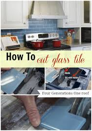 how to cut glass tile with a wet saw