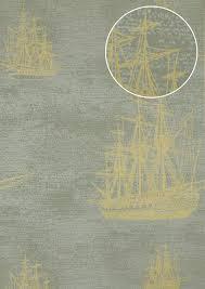 Grafisch Behang Atlas Sig 584 4 Vliesbehang Glad In Maritiem Stijl