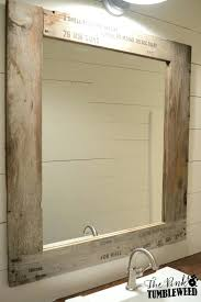 Funky Mirrors For Bathroommedium Size Of Wood Frame Rustic Pertaining To Bathroom  Mirror Plan 15
