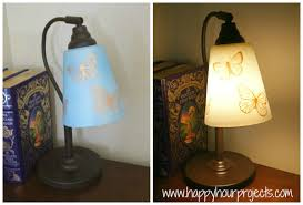 thrift lamp re vamp with martha stewart glass paints