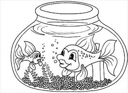 Small Picture 9 Fish Coloring Pages JPG AI Illustrator Download Free