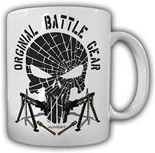 Research shows that caffeine content per ounce of coffee varies widely. Amazon Com Original Battle Gear Pride Military Fun Bw Mg Skull Coffee Cup Mug Coffee Cups Mugs