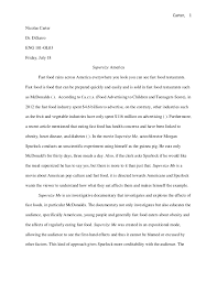 of supersize me essay