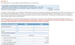 discount on bonds payable balance sheet solved 12 callable convertible bonds payable semiannua