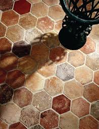 hexagonal terracotta floor tiles from exquisite surfaces