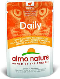 <b>almo nature</b> Daily <b>Cat</b> Food with Chicken and Salmon, 70 g, Pack of ...