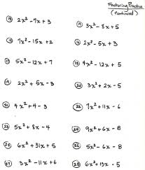 worksheets for all and share free on factoring quadratic expressions worksheet
