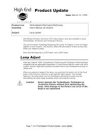 Technobeam Light Product Update Manualzz Com