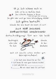 Geburtstag Vergessen Karte Humor 文字图案 Geburtstag