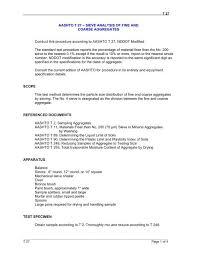 Aashto T 27 Sieve Analysis Of Fine And Coarse
