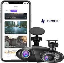 Nexar Pro Dual Dash Cam| Road and Interior Recording | WiFi | SD Card and