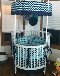 modern deposit round crib bedding navy and gray made to order round baby cribs