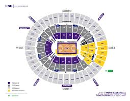 Lsu Seating Chart With Rows Lsu Mens Basketball Seating Chart Maravich Center Lsu