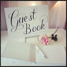 Sign Book For Wedding Wedding Guest Book Signs
