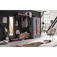 Woodkings Flur Set Woodend Akazie Massiv Flurmöbel Set Vintage