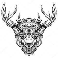 олень и тигр тату векторное изображение Dianapryadieva 86411032